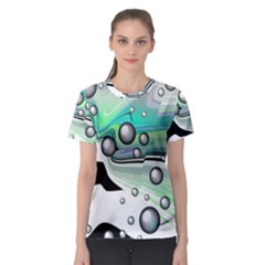Small And Big Bubbles Women s Sport Mesh Tee