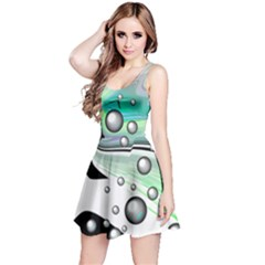 Small And Big Bubbles Reversible Sleeveless Dress