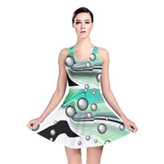 Small And Big Bubbles Reversible Skater Dress
