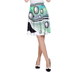 Small And Big Bubbles A-Line Skirt
