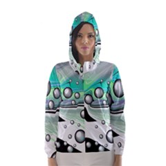 Small And Big Bubbles Hooded Wind Breaker (women)