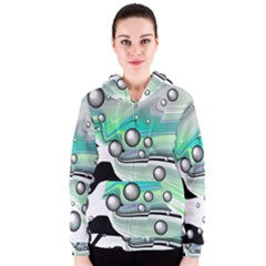Small And Big Bubbles Women s Zipper Hoodie
