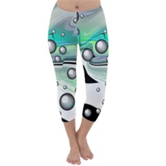 Small And Big Bubbles Capri Winter Leggings