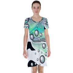 Small And Big Bubbles Short Sleeve Nightdress