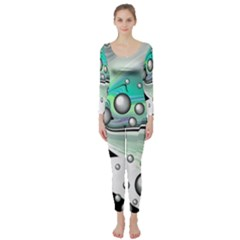 Small And Big Bubbles Long Sleeve Catsuit