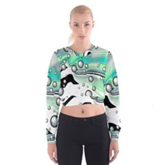 Small And Big Bubbles Cropped Sweatshirt