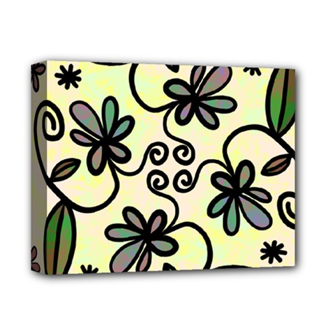 Completely Seamless Tileable Doodle Flower Art Deluxe Canvas 14  x 11