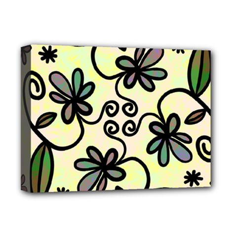 Completely Seamless Tileable Doodle Flower Art Deluxe Canvas 16  x 12