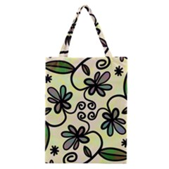 Completely Seamless Tileable Doodle Flower Art Classic Tote Bag