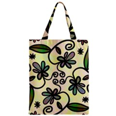Completely Seamless Tileable Doodle Flower Art Zipper Classic Tote Bag