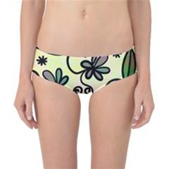 Completely Seamless Tileable Doodle Flower Art Classic Bikini Bottoms