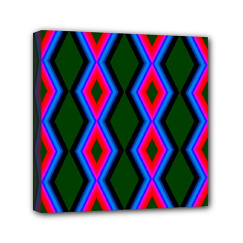 Quadrate Repetition Abstract Pattern Mini Canvas 6  X 6