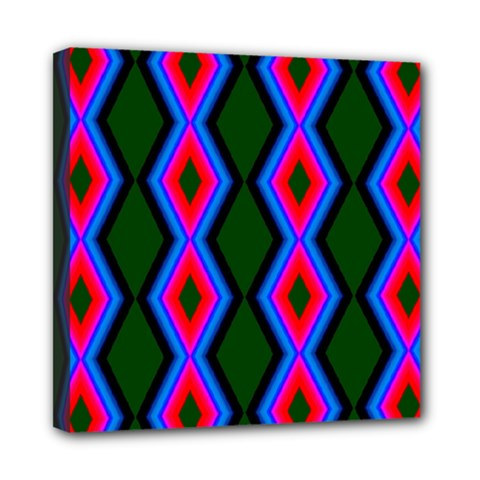 Quadrate Repetition Abstract Pattern Mini Canvas 8  X 8