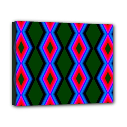 Quadrate Repetition Abstract Pattern Canvas 10  X 8