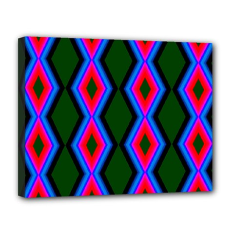 Quadrate Repetition Abstract Pattern Canvas 14  x 11