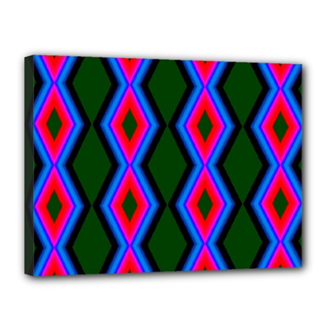 Quadrate Repetition Abstract Pattern Canvas 16  x 12