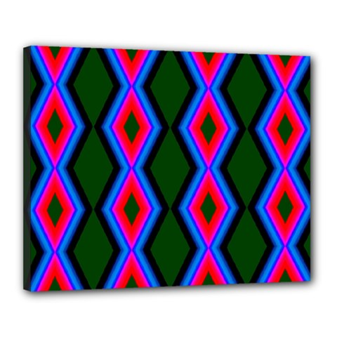 Quadrate Repetition Abstract Pattern Canvas 20  x 16