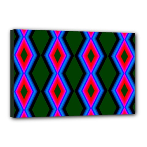 Quadrate Repetition Abstract Pattern Canvas 18  X 12
