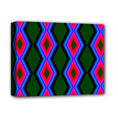Quadrate Repetition Abstract Pattern Deluxe Canvas 14  X 11