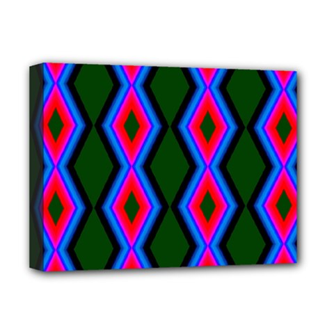 Quadrate Repetition Abstract Pattern Deluxe Canvas 16  X 12