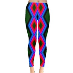 Quadrate Repetition Abstract Pattern Leggings