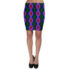 Quadrate Repetition Abstract Pattern Bodycon Skirt