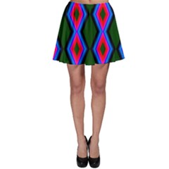 Quadrate Repetition Abstract Pattern Skater Skirt