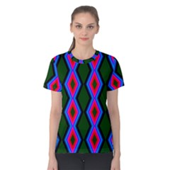 Quadrate Repetition Abstract Pattern Women s Cotton Tee