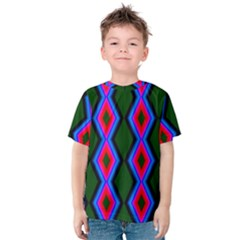 Quadrate Repetition Abstract Pattern Kids  Cotton Tee
