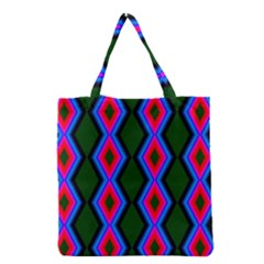 Quadrate Repetition Abstract Pattern Grocery Tote Bag