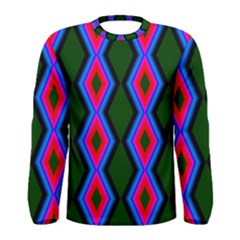 Quadrate Repetition Abstract Pattern Men s Long Sleeve Tee