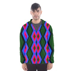 Quadrate Repetition Abstract Pattern Hooded Wind Breaker (Men)