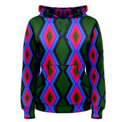 Quadrate Repetition Abstract Pattern Women s Pullover Hoodie