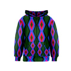 Quadrate Repetition Abstract Pattern Kids  Zipper Hoodie
