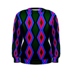 Quadrate Repetition Abstract Pattern Women s Sweatshirt