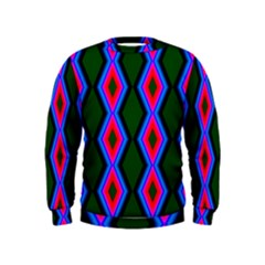Quadrate Repetition Abstract Pattern Kids  Sweatshirt
