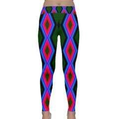 Quadrate Repetition Abstract Pattern Classic Yoga Leggings