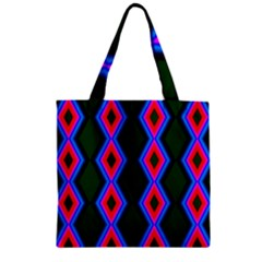 Quadrate Repetition Abstract Pattern Zipper Grocery Tote Bag