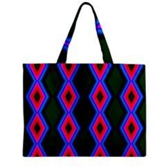 Quadrate Repetition Abstract Pattern Zipper Mini Tote Bag