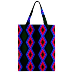 Quadrate Repetition Abstract Pattern Zipper Classic Tote Bag