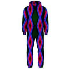 Quadrate Repetition Abstract Pattern Hooded Jumpsuit (men)