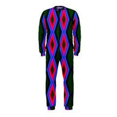 Quadrate Repetition Abstract Pattern OnePiece Jumpsuit (Kids)