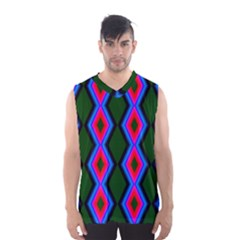 Quadrate Repetition Abstract Pattern Men s Basketball Tank Top