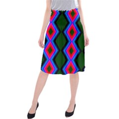 Quadrate Repetition Abstract Pattern Midi Beach Skirt