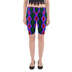 Quadrate Repetition Abstract Pattern Yoga Cropped Leggings