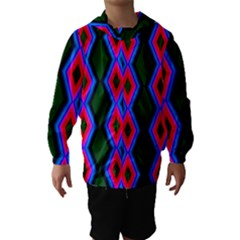 Quadrate Repetition Abstract Pattern Hooded Wind Breaker (Kids)