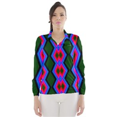 Quadrate Repetition Abstract Pattern Wind Breaker (Women)