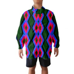 Quadrate Repetition Abstract Pattern Wind Breaker (Kids)