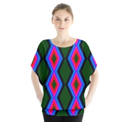 Quadrate Repetition Abstract Pattern Blouse