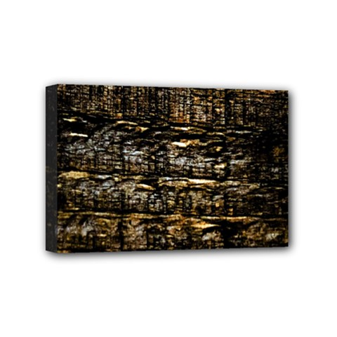 Wood Texture Dark Background Pattern Mini Canvas 6  x 4